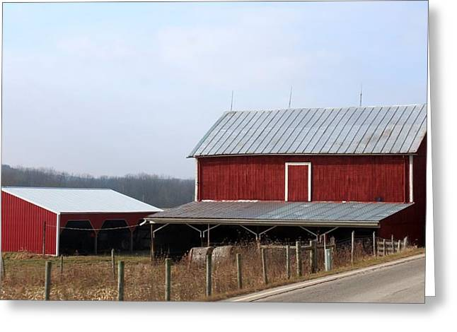 Shed Greeting Cards - Along the Roadway Greeting Card by R A W M