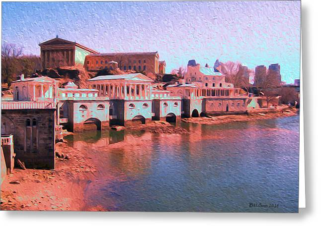 At Work Greeting Cards - Along the Schuylkill at the Philadelphia Waterworks Greeting Card by Bill Cannon