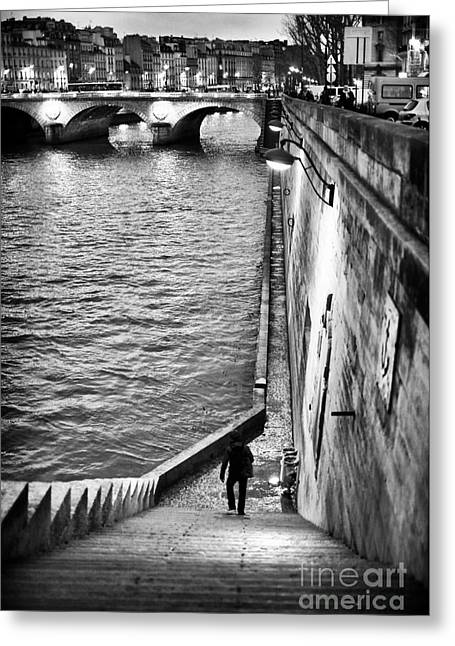 Recently Sold -  - ist Photographs Greeting Cards - Along the Seine Greeting Card by John Rizzuto