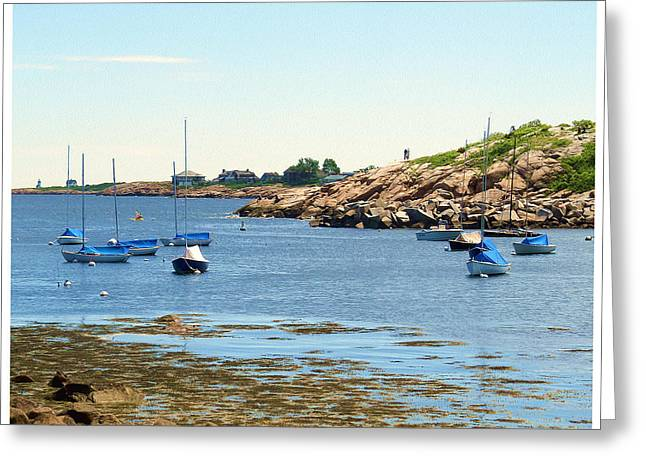 New England Ocean Greeting Cards - Along the Shore Greeting Card by Bob Sandler