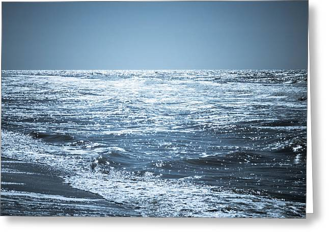Reflecting Water Greeting Cards - Along The Shore Greeting Card by Wim Lanclus