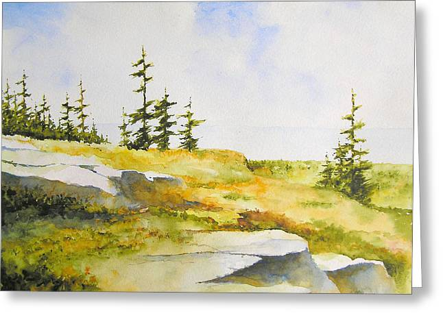Backpacking Paintings Greeting Cards - Along the Superior Hiking Trail Greeting Card by William Beaupre