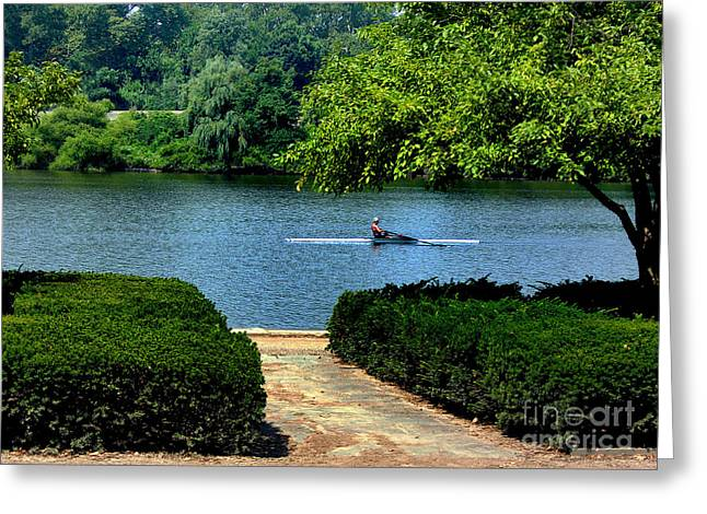 Penna Greeting Cards - Along The Schuylkill Greeting Card by Skip Willits
