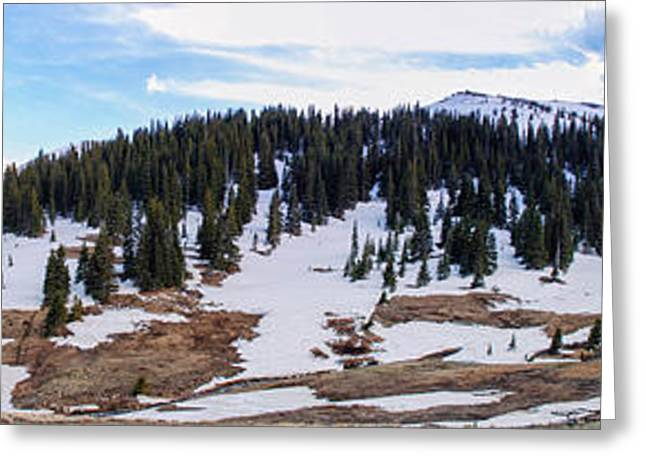 Snowy Mountain Loop Greeting Cards - Along The Trail Greeting Card by Nicholas Harte