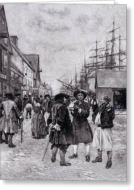 Slaves Greeting Cards - Along The Water Front In Old New York, Illustration From The Evolution Of New York By Thomas A Greeting Card by Howard Pyle