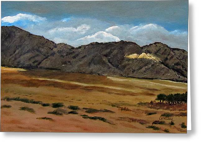 Along The Way To Eilat Greeting Card by Linda Feinberg