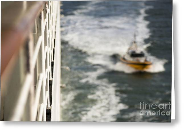Boat Cruise Greeting Cards - Alongside Greeting Card by Anne Gilbert