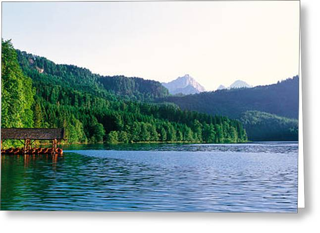 Mts Greeting Cards - Alp Lake Hohenschwangau Germany Greeting Card by Panoramic Images