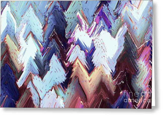 Renewing Digital Art Greeting Cards - Alpenglow Greeting Card by Ann Johndro-Collins