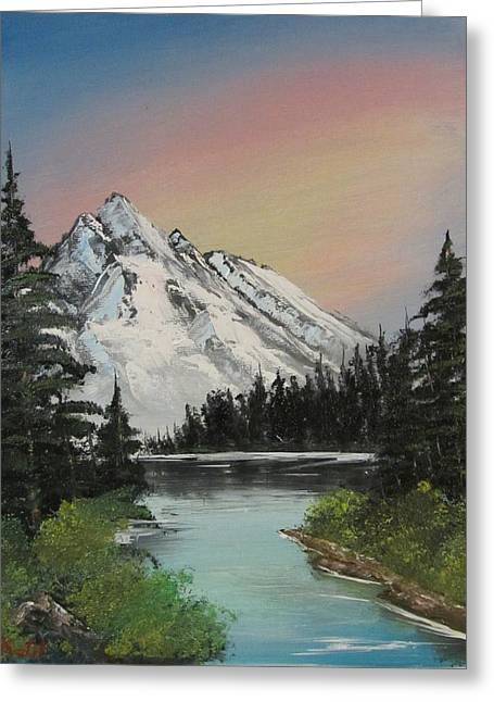 Bob Ross Paintings Greeting Cards - Alpenglow Greeting Card by Gavin Kutil