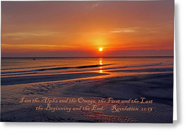 Testament Greeting Cards - Alpha And Omega Greeting Card by HH Photography