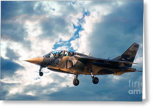 Alpha Jet 082 Greeting Card by Bianca Nadeau