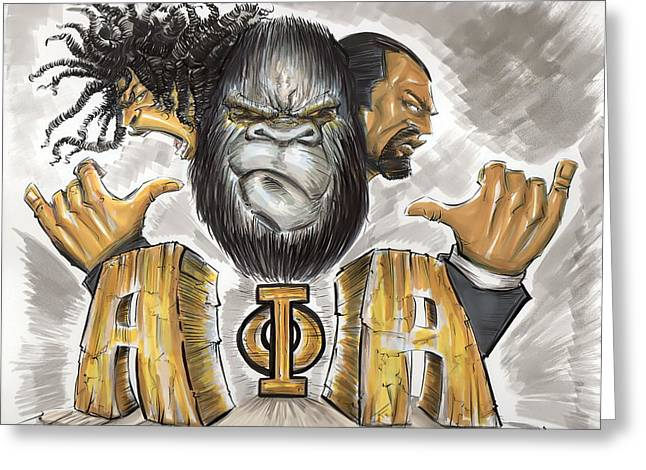 Phi Greeting Cards - Alpha Phi Alpha Fraternity Inc Greeting Card by Tu-Kwon Thomas