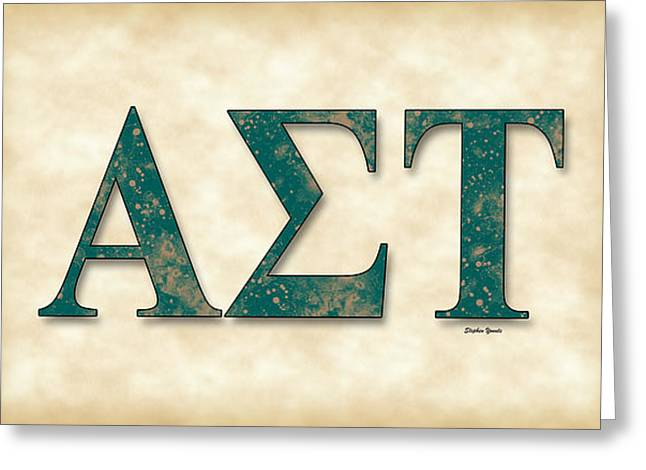 Normal School Greeting Cards - Alpha Sigma Tau - Parchment Greeting Card by Stephen Younts