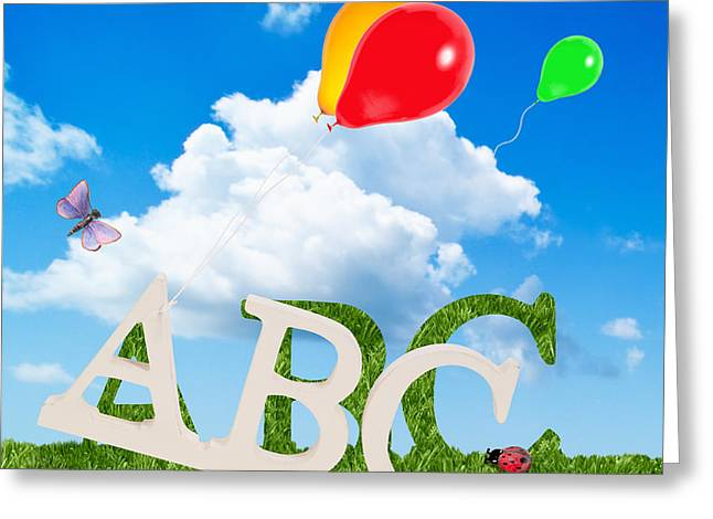 Alphabet Letters Greeting Card by Amanda And Christopher Elwell