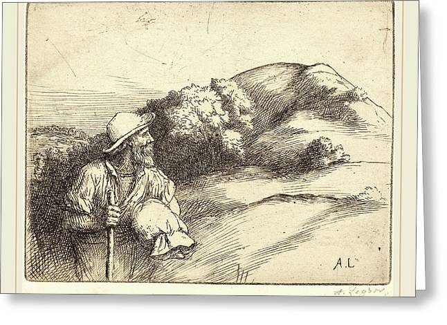 Alphonse Legros, Return From The Fields Le Retour Des Champs Greeting Card by Litz Collection