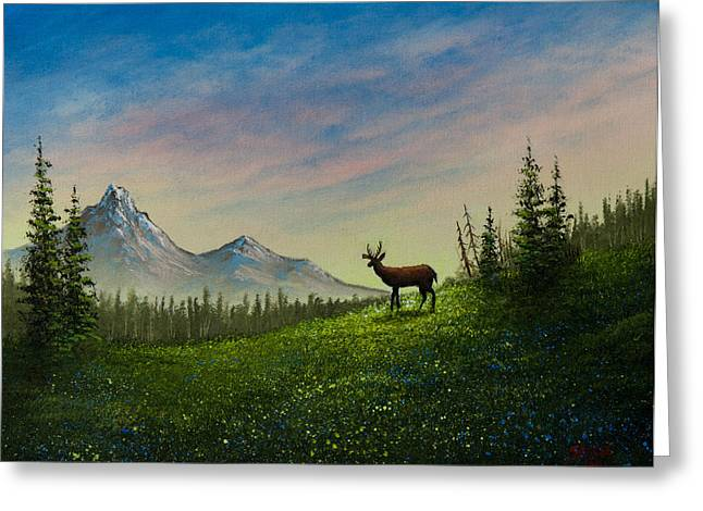 Bob Ross Paintings Greeting Cards - Alpine Beauty Greeting Card by C Steele