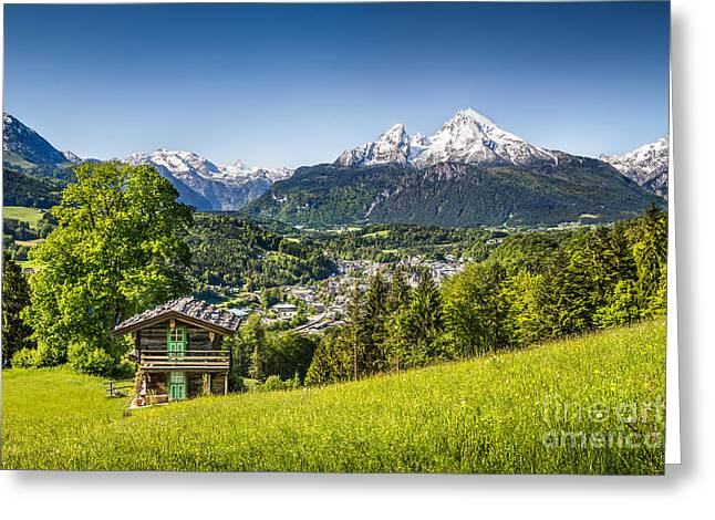 Oberbayern Greeting Cards - Alpine Beauty Greeting Card by JR Photography
