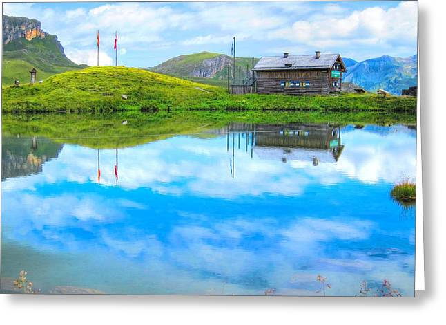 Chalet Decor Greeting Cards - Alpine Blue Greeting Card by Andreas Thust