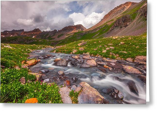 Colorado Greeting Cards - Alpine Creek Greeting Card by Darren  White