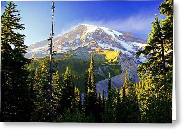 Alpine Glow 2 Greeting Card by Marty Koch