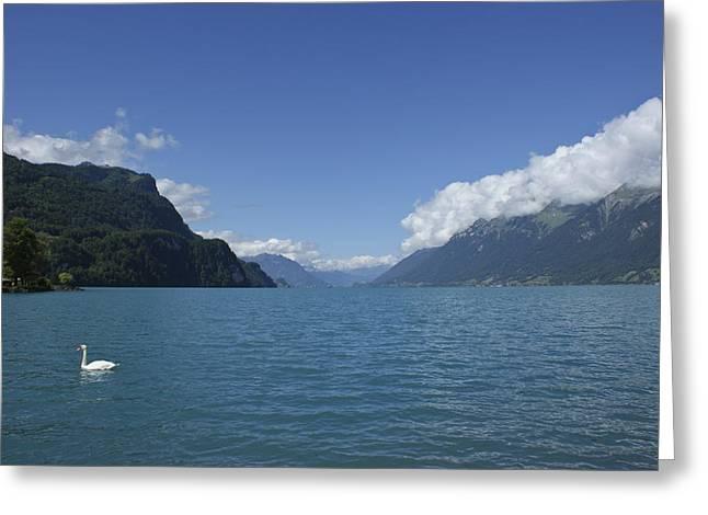 Berne Canton Greeting Cards - Alpine Lake Greeting Card by Brian Kamprath
