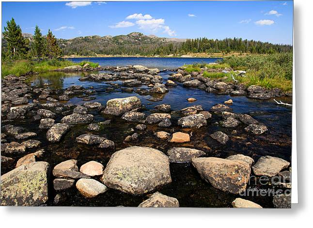 Rock Spring Trail Greeting Cards - Alpine Lake Greeting Card by Edward Fielding