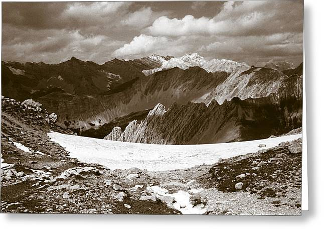 Hike Greeting Cards - Alpine Landscape Greeting Card by Frank Tschakert