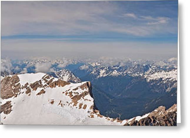 Deutschland Greeting Cards - Alpine panorama Greeting Card by Neil Burton
