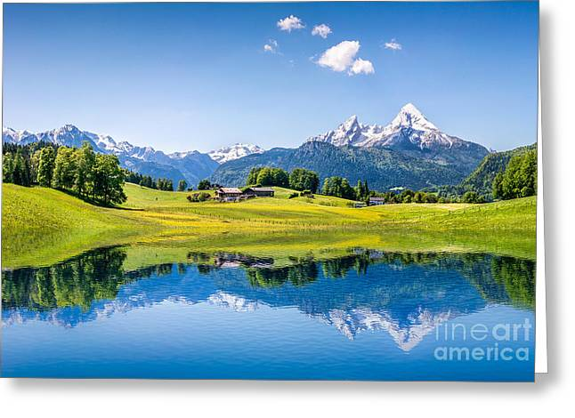 Oberbayern Greeting Cards - Alpine Summer 2.0 Greeting Card by JR Photography