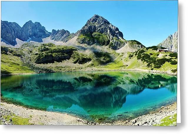 Drachen Greeting Cards - Alpine Summer Lake Greeting Card by David Broome