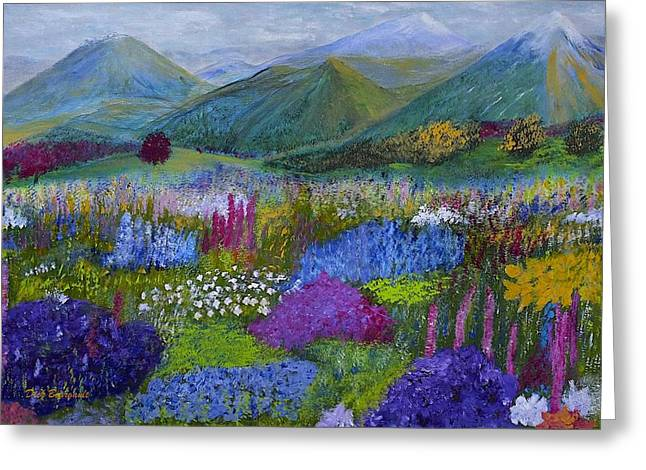 Wild Orchards Greeting Cards - Alpine Wild Flowers Greeting Card by Dick Bourgault