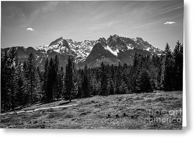 Alpspitze Till Zugspitze II Greeting Card by Hannes Cmarits