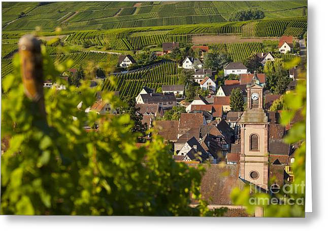 Alsace Greeting Cards - Alsace Morning Greeting Card by Brian Jannsen