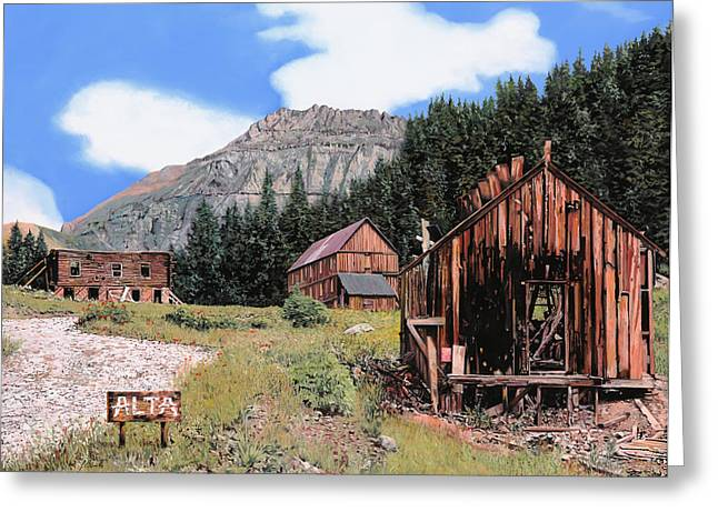 Colorado Greeting Cards - Alta in Colorado Greeting Card by Guido Borelli