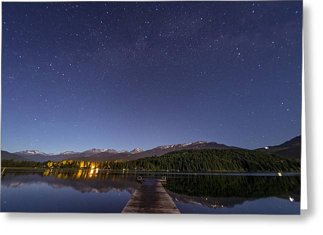 Constellations Greeting Cards - Alta Lake Greeting Card by Aaron S Bedell
