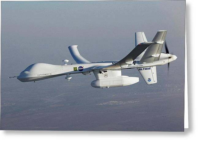 Altair Unmanned Aerial Vehicle Greeting Card by Nasa/general Atomics Aeronautical Systems