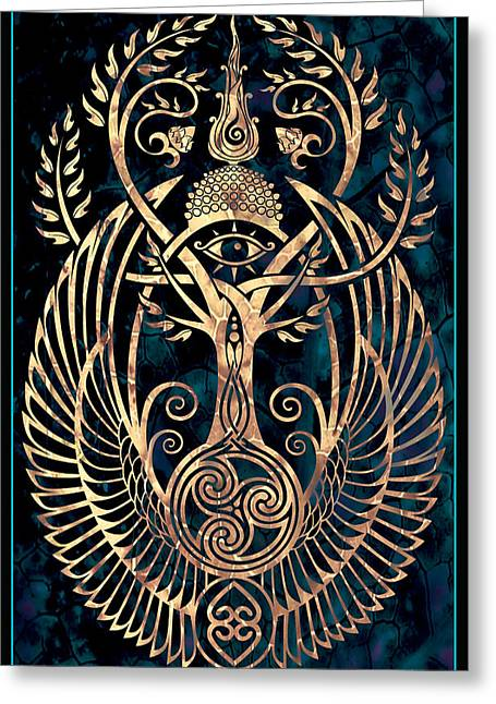 Recently Sold -  - Horus Greeting Cards - Altar #1 Greeting Card by Cristina McAllister