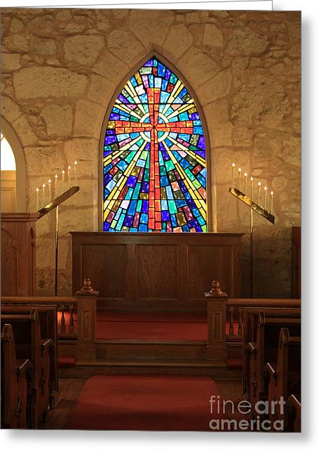 La Villita Greeting Cards - Altar at the Little Church in La Villita Greeting Card by Carol Groenen