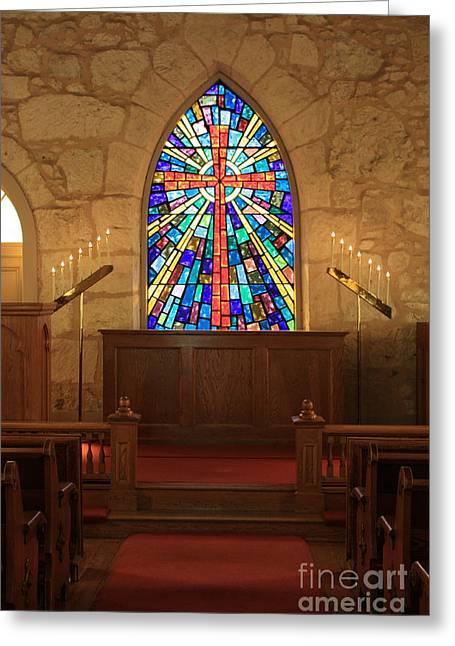 La Villita Greeting Cards - Altar at the Little Church in La Villita Greeting Card by Carol Groenen