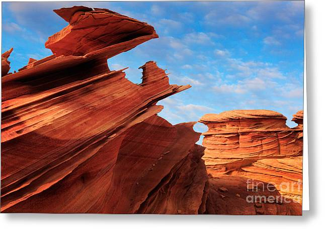 Harsh Photographs Greeting Cards - Altar of Sacrifice Greeting Card by Inge Johnsson