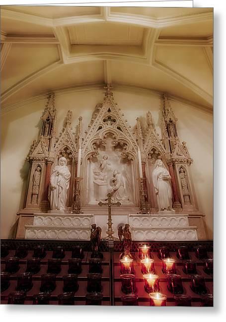 Altar Greeting Card by Susan Candelario
