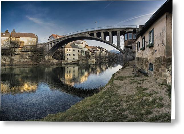 River View Greeting Cards - Alte Brÿcke In Waidhofen An Der Ybbs Greeting Card by Tips Images