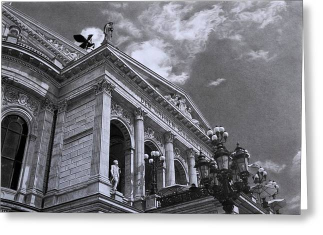 Hyper-realism Greeting Cards - Alte Oper Frankfurt Greeting Card by Hirokazu Tomimasu