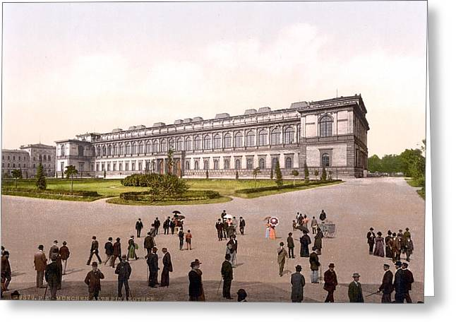 Paint Photograph Paintings Greeting Cards - Alte Pinakothek Greeting Card by Celestial Images