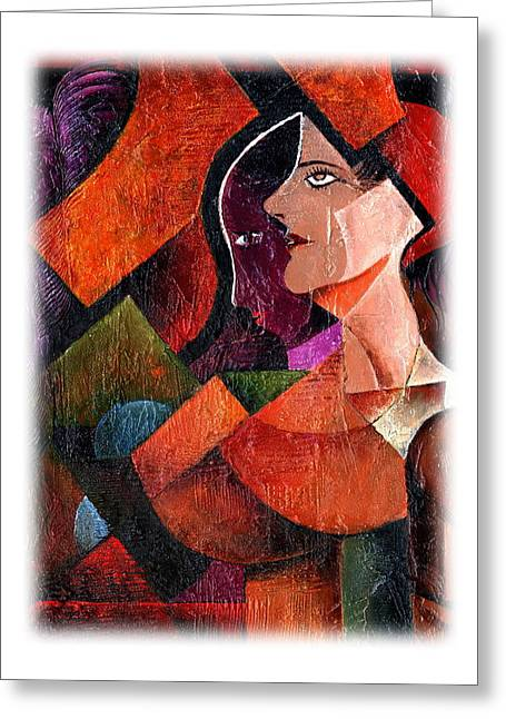 Ego Greeting Cards - Alter Ego 2 Greeting Card by Val Byrne