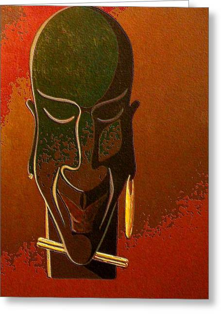 African Inspired Art Greeting Cards - Altered Heritage Greeting Card by Timothy Frink