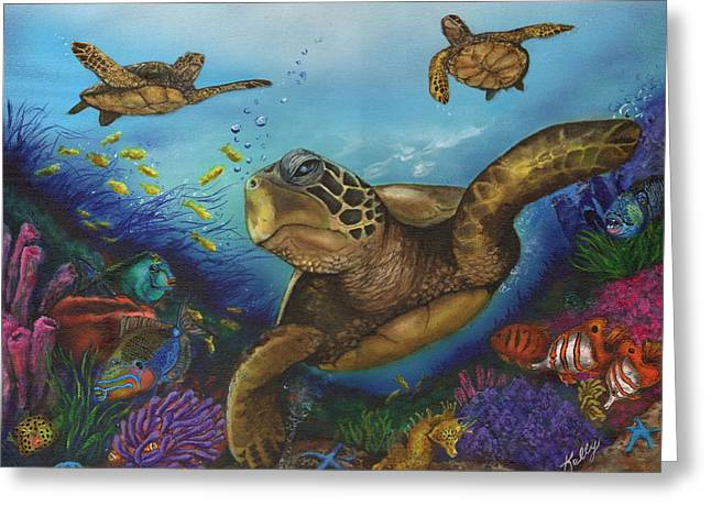Sea Horse Greeting Cards - Alternate Universe Greeting Card by Kathleen Kelly Thompson