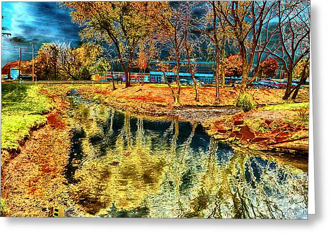 Fall Trees Greeting Cards - Alternative Autumn Scenery Greeting Card by Ron Fleishman
