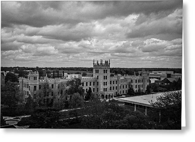Northern Illinois University Greeting Cards - Altgeld hall at Northern Illinois University Greeting Card by Jason Borg